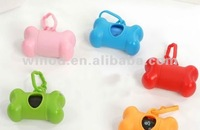 Strong pet poop bag with bone shaped dispenser 15pcs/roll