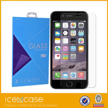 Hight quality 0.33mm 2.5D ultra thin 4.7inch mobile phone 9H tempered glass for iphone 6 6s tempered