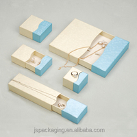 china supplier Customized small cardboard jewelry boxes for ring necklace bracelet set earring