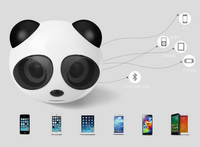 New product panda shape mini portable multimedia mini music car manual bluetooth speaker