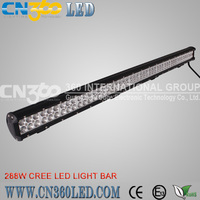 Car led light tow truck led light bar with 288w track spot light