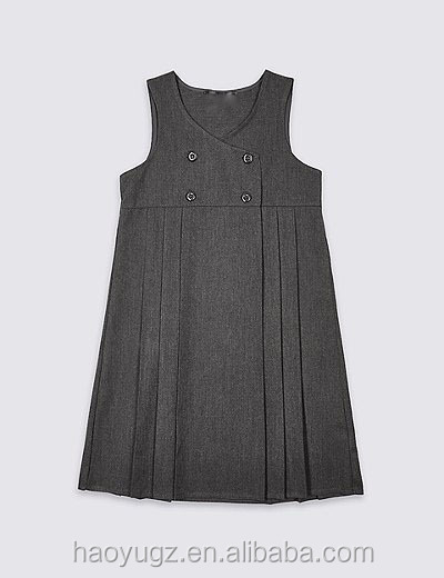 Little girl wear uniform pinafore used in philippines private school
