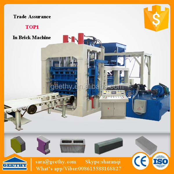 QT6-15C fly ash bricks manufacturing plant cost / equipment for the production of blocks
