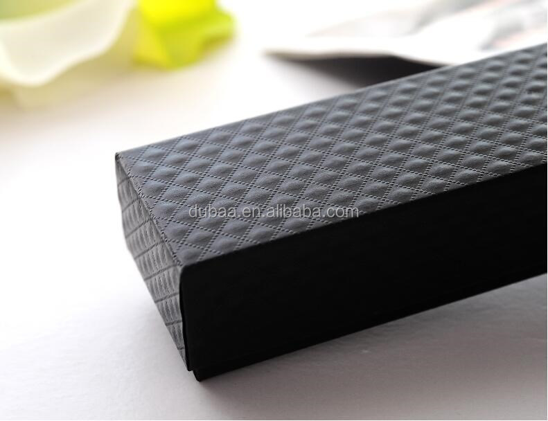 Black Necklace Bracelet Jewelry Gift Packakaging Box Long Rectangle Black Good Quality Gift Fine Package Case High Quality Box