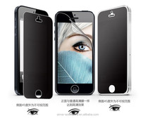 Double functions for 9H 0.33mm 2.5D anti-water anti-spy screen protector for iphone 5 5c factory supply OEM!