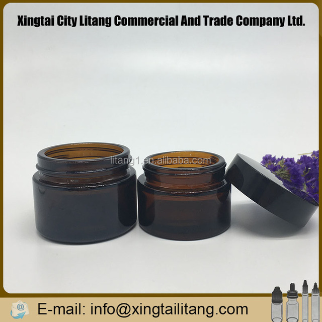 5/10/15/20/30/60/80/100/120/150g cosmetic amber glass jar set with lid cream jar for sale personal care face care cosmetic jar