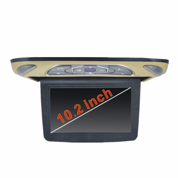 "popular model 10.2"" Digital High Pixel car flip down dvd player"