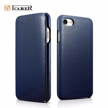 ICARER Curved Edge Luxury Series filp style leather case for iPhone 7, 7Plus.