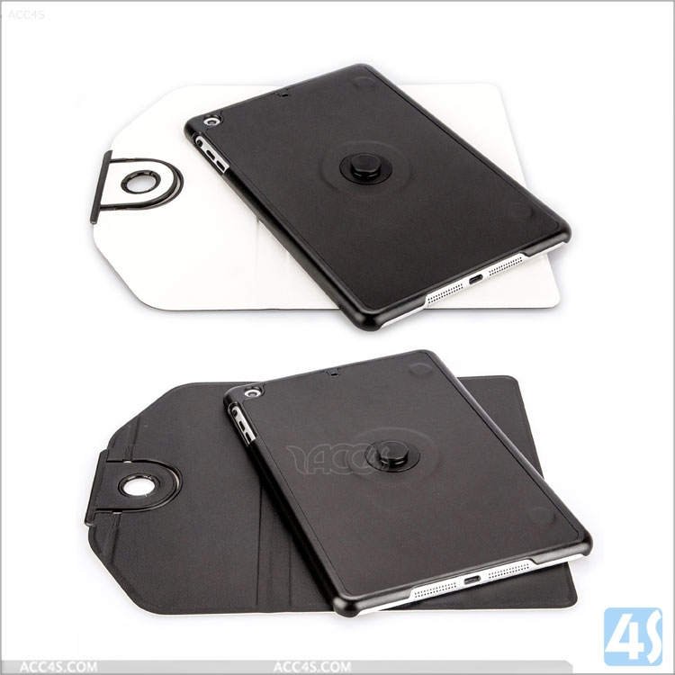 High quality in stock sample order welcome fashion detachable leather flip cover case for ipad mini