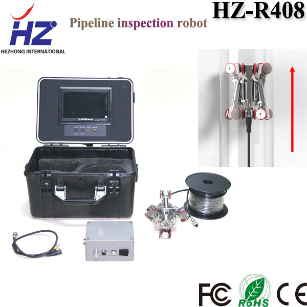 IP68 underwater crawling robot camera pipe visual checking machine