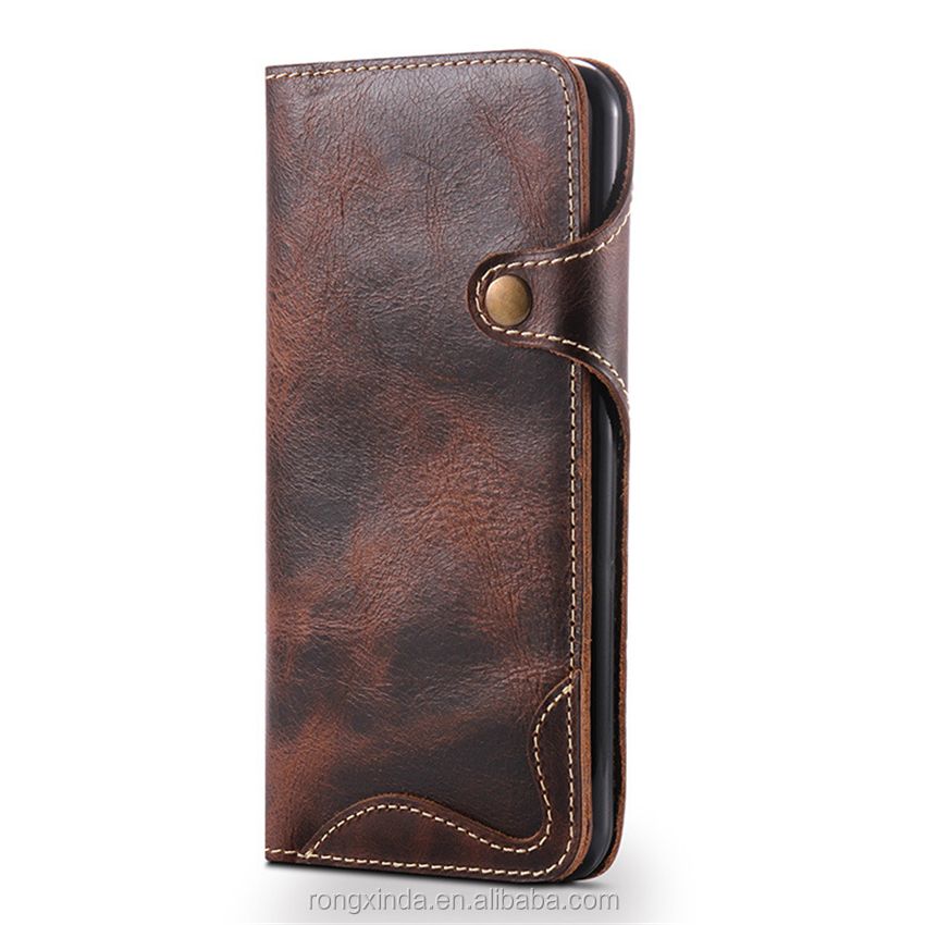 Companies looking for distributor latest design new top high quality vintage genuine leather cell phone case for iphone 7 7 plus