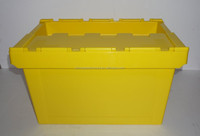 large size plastic storage crates with lid