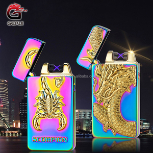 Animal Pattern Engraving Dual Arc Lighter Wholesales From China