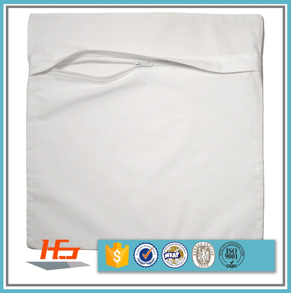 Bulk Sale 100% Polyester Brushed Pillow Cover With Zipper Customize Size For Sublimation