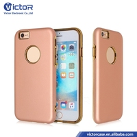 Hot Cellular Mobile phone slim ball TPU slim combo 2in1 case for iphone 7 with electroplating TPU