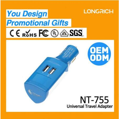 Gadget 2017 innovative Dual USB Car charger NT-755