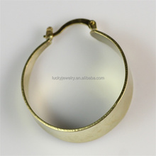 Latest Fashionable Earrings Jewelry Highly Polished Big Circle Gold Plated Hoop Dangle Earrings