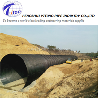 Galvanized Corrugated Metal Culvert pipe used for road culvert
