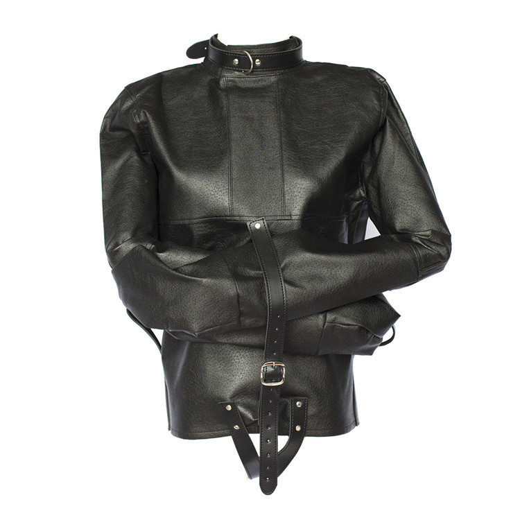 Sey Women/men PU Leather Coupless jacket Up Bondage Straitjacket Costume Harness