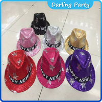 OEM flashing paillette funnyed sequin Fedora party hat