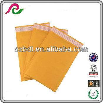 Natural color gold kraft bubble padded envelope