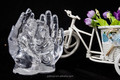 Acrylic clearLED LIGHTED MERRY CHRISTMAS sets of hand for indoor decoration