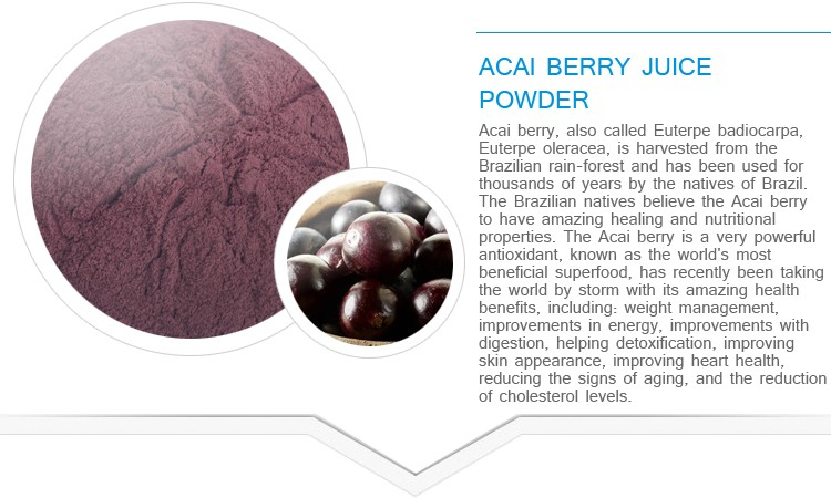 Best selling natural organic freeze dried acai powder