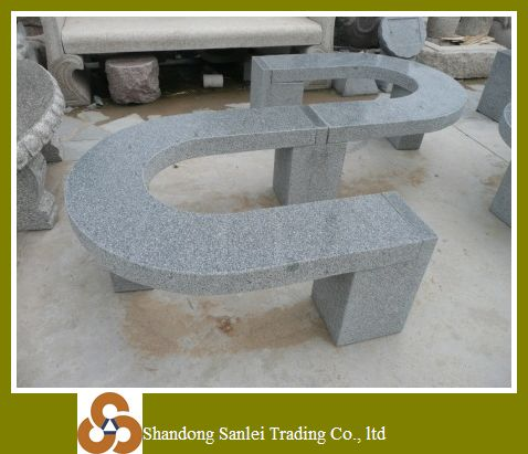 Beautiful U shaped marble stone stool
