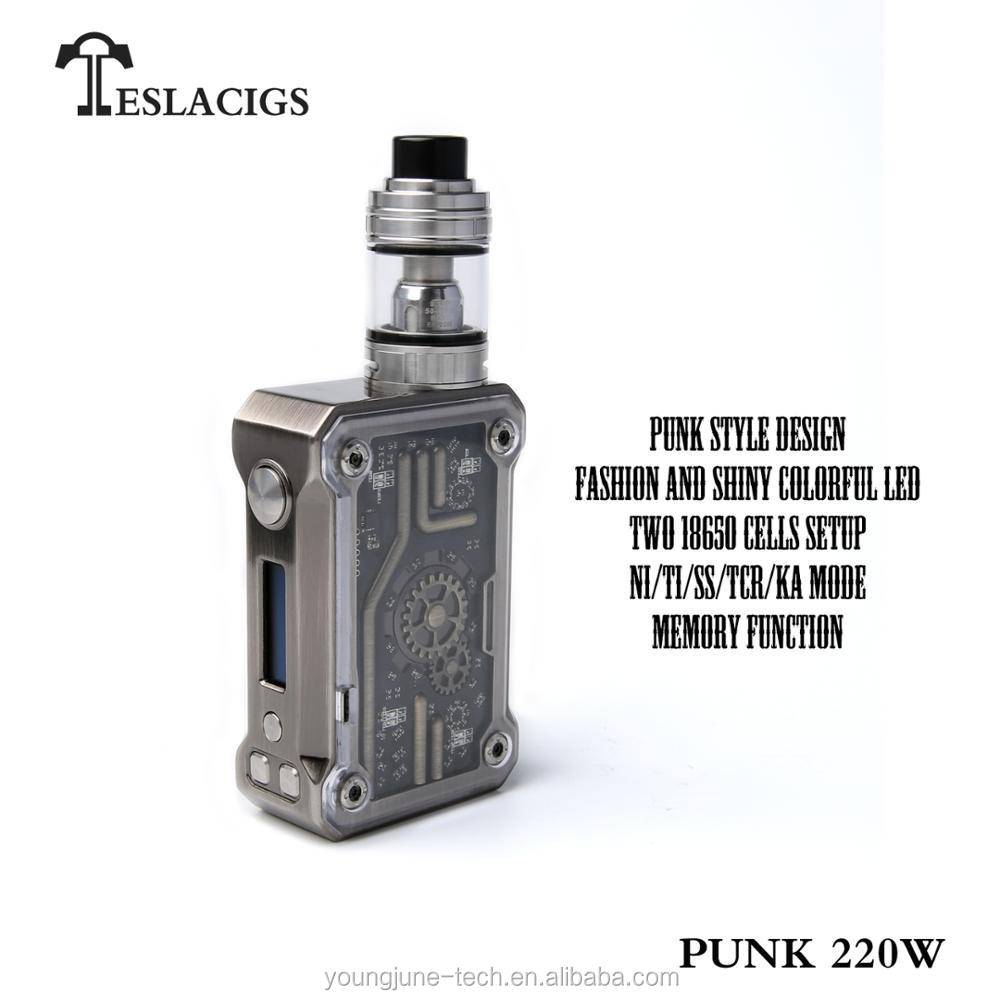 Newest design of Steampunk mod Tesla high watt 220W Punk vape mod