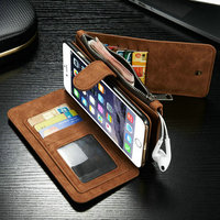 For Apple iPhone 6s Plus Magnetic Flip PU Leather Wallet Case with 14 Card Slots Stand Mobile Phone Cover cases