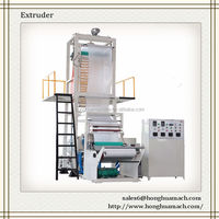 Extrusion rotating haul-off blown film line, up-blowing single layer mini blown film extruder