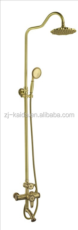 Solid Brass Bath Filler Mixer Shower with Diverter and Spout