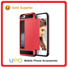 [UPO] Luxury brushed metal pc tpu hybrid combo armor case for iphone 6 shockproof case