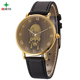 Factory Direct Sale Fashion Japanese Quartz Movement Pure Gold Watches