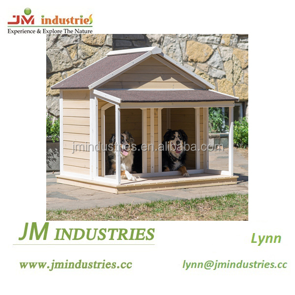 Plush design double dog house in high grade
