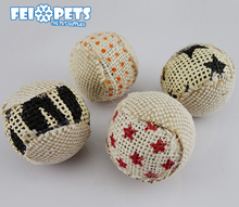wholesale cute ball pet toy cat toys pack with sand