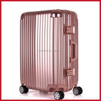 sincere sell luggage genuine leather aluminum luggage case