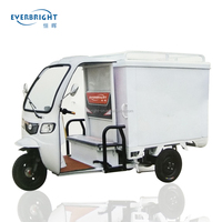 High quality and hot sale 3 wheel motorcycle cargo e trike with closed cabin