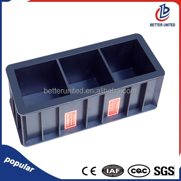 Factory directly supply Plastic Concrete 100mm Cube Three Gang Test <strong>Molds</strong>