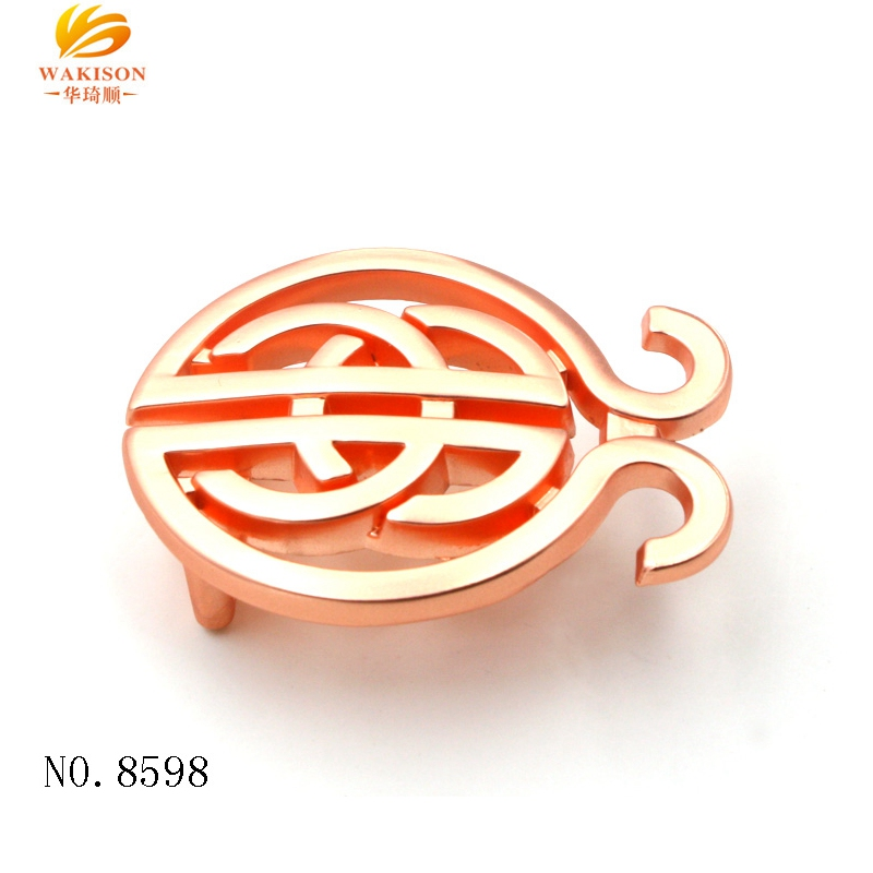Italian High End Rose Gold Metal Belt Buckle for Woman Fashion Accessories