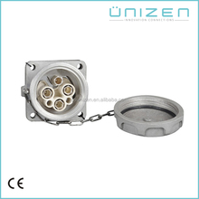 Unizen 250A 690 V High Current Industrial Socket <span class=keywords><strong>de</strong></span> $ Number Pines Hembra <span class=keywords><strong>A</strong></span> <span class=keywords><strong>Prueba</strong></span> <span class=keywords><strong>de</strong></span> <span class=keywords><strong>agua</strong></span> IP66