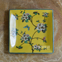 hand painted decorative ceramic Square wall plates