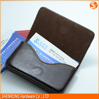 Wholesale and cheap handmade leather credit card case with magnetic