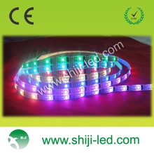 WS2801 waterproof 5050 addressable white rgb led strip digital 5M 5V