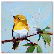Hand Painted Modern Art Animal Themes Canvas Bird Oil Painting