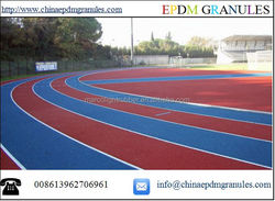 Rubber Cover For Synthetic Running Race Track With EPDM Rubber Granules