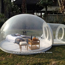 4m dome outdoor transparent inflatable camping bubble tent with frame tunnel FOR SALE