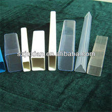 plastic profile PVC/PC/ABS/PP/PE/PS/HDPE/HIPS/PMMA square tubes
