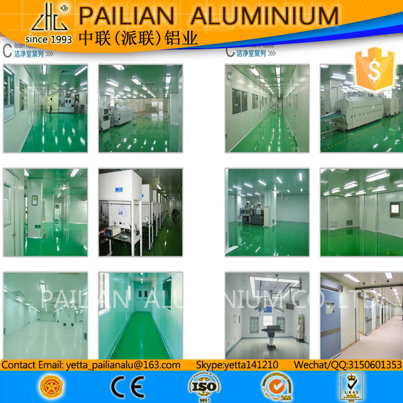 Top 6061 aluminium manufacturer,hollow aluminium profiles,profile aluminim clean room for Biology Lab