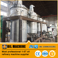 Lower investment faster return crude palm oil refinery machine plant for sale with factory price